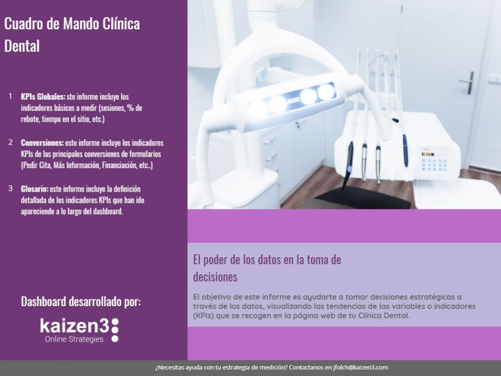Plantilla Data Studio Clínica Dental - Portada